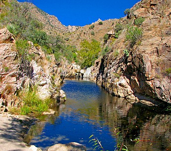 Looking-at-Hutches-Pool-in-Upper-Sabino-