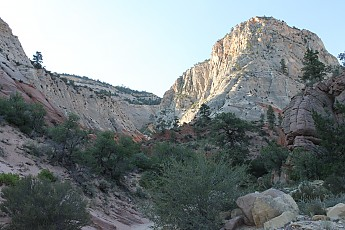 Sun-on-high-cliffs-above-mouth-of-Red-Ho
