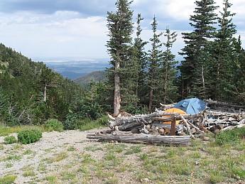 Camp-2-at-Doyle-Saddle-10800-feet-lookin