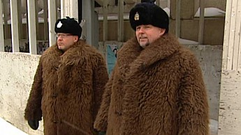 Winnipeg-Police-in-Historic-Buffalo-Coat