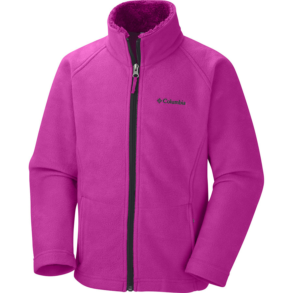 photo: Columbia Girls' Dotswarm II Fleece Full Zip Jacket fleece jacket