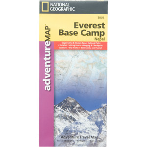 National Geographic Everest Base Camp Adventure Map