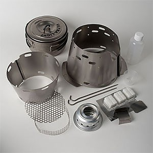 photo: Trail Designs Sidewinder Ti-Tri alcohol stove