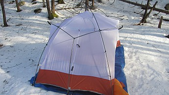 Both types of pole can be seen here with the inner tent mostly attached. & Easton Torrent 2 Reviews - Trailspace.com