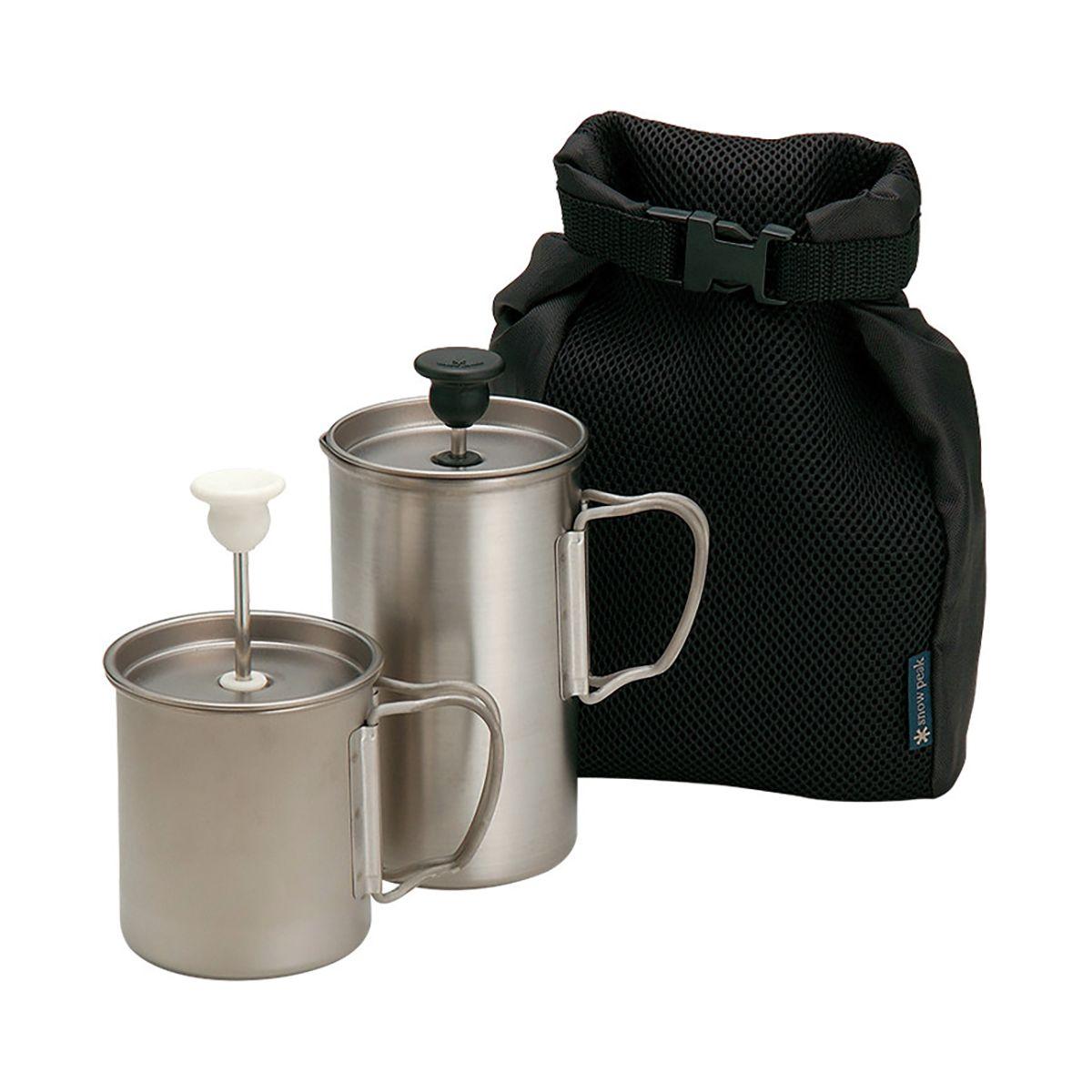 photo: Snow Peak Titanium Cafe Latte Set coffee press/filter