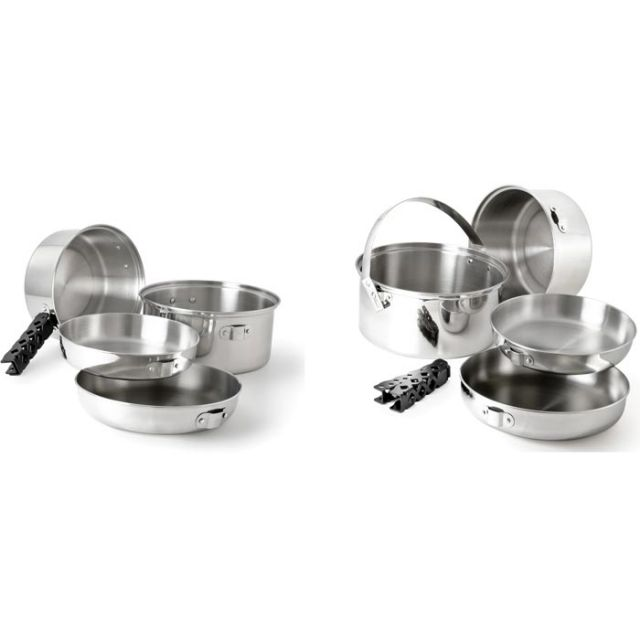 photo: GSI Outdoors Glacier Stainless Cookset Large pot/pan