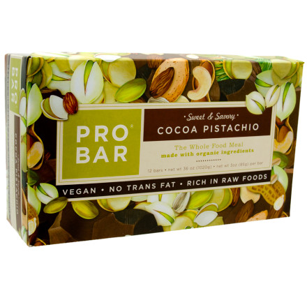 photo: ProBar Cocoa Pistachio Sweet and Savory Bar nutrition bar