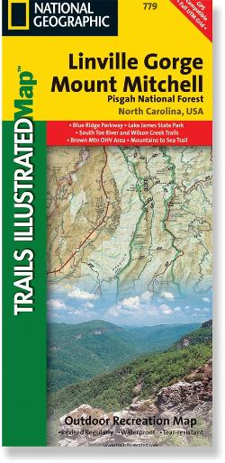 National Geographic Linville Gorge/Mount Mitchell Map - Pisgah National Forest