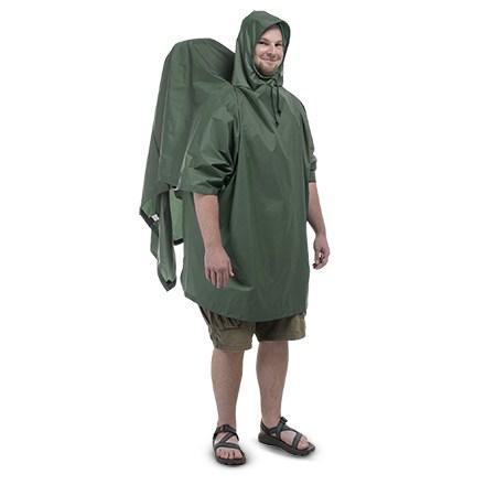 photo: Outdoor Products Backpacker Poncho waterproof jacket