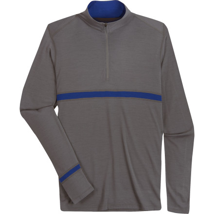 photo: Ibex Men's Indie Zip T base layer top