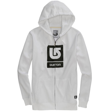 photo: Burton Men's Logo Fill Full-Zip Hoodie fleece jacket