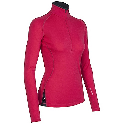 photo: Icebreaker 260 Midweight LS Express Zip base layer top