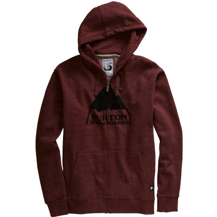 photo: Burton Mountain Logo Full-Zip Hoodie fleece jacket