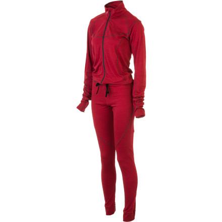 photo: Stoic Women's Alpine Merino 150 1-Z Suit one-piece base layer