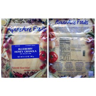 photo: AlpineAire Foods Blueberry Honey Granola breakfast