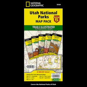 National Geographic Utah National Parks Map Pack Bundle