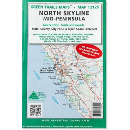 Green Trails Maps North Skyline Mid-Peninsula Map