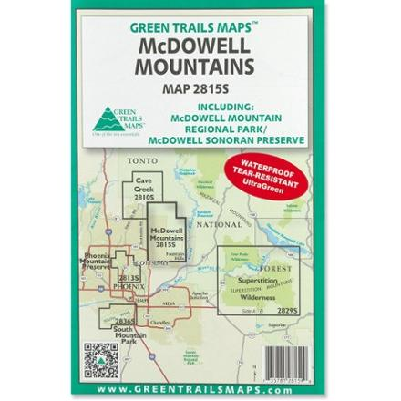 Green Trails Maps McDowell Mountains Map
