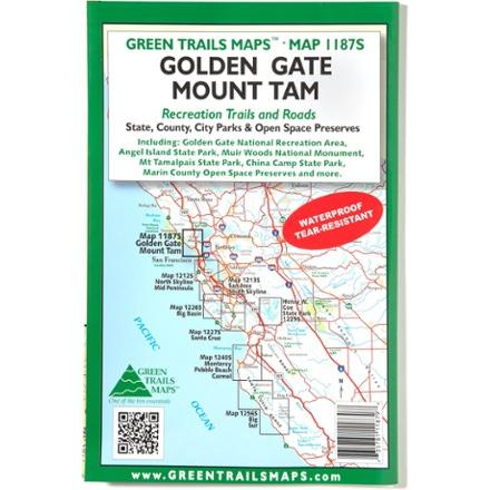 Green Trails Maps Golden Gate Mount Tam Map