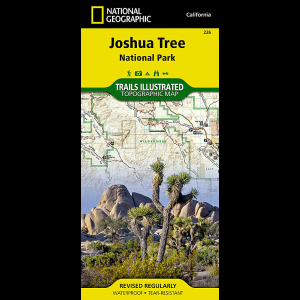 photo: National Geographic Joshua Tree National Park Map us pacific states paper map