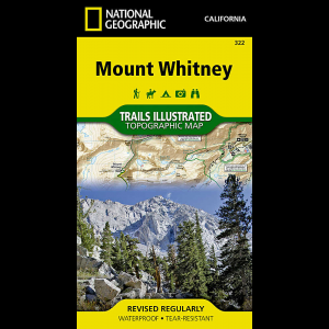 National Geographic Trails Illustrated Mount Whitney Map