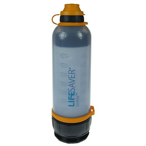 photo of a LifeSaver bottle/inline water filter