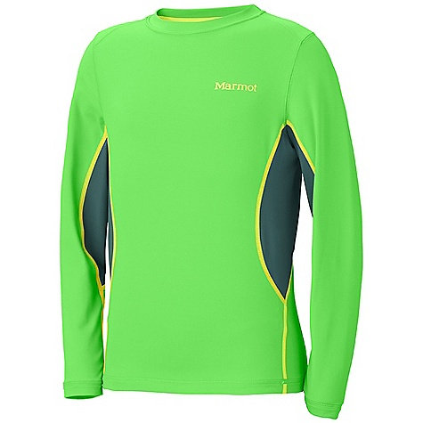 photo: Marmot Boys' DriClime Crew LS base layer top