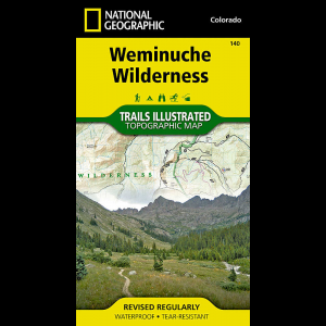 National Geographic Weminuche Wilderness Map