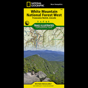 National Geographic Franconia Notch, NH, Map