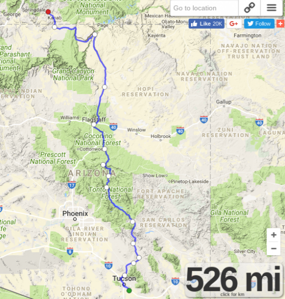Route-in-early-April-2013-Tucson-to-Mt-C