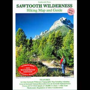 Earthwalk Press Sawtooth Widerness Hiking Map and Guide