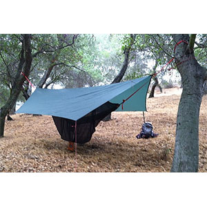 photo of a Wilderness Logics tarp/shelter