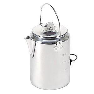 Stansport Aluminum Percolator Coffee Pot 9-Cup