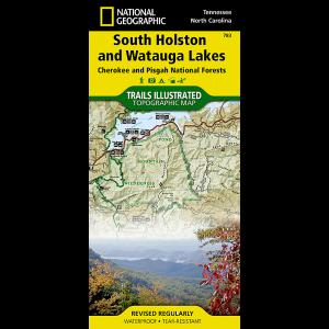 National Geographic South Holston/Watauga Lakes Map- Cherokee and Pisgah National Forests