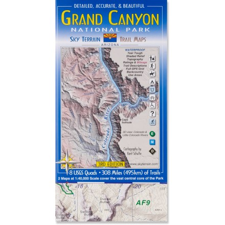 photo of a Sky Terrain us mountain states paper map