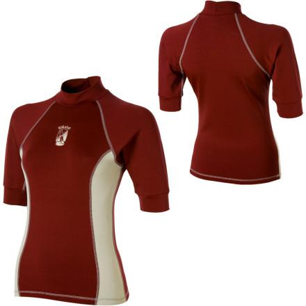 photo: Kokatat Women's Innercore Short Sleeve Top short sleeve paddling shirt