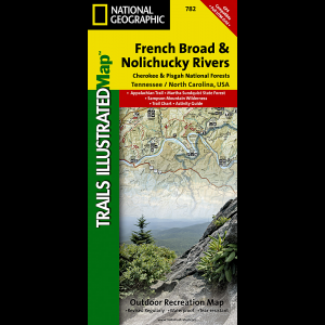 photo: National Geographic French Broad/Nolichucky Rivers Map - Cherokee and Pisgah National Forests  us south paper map