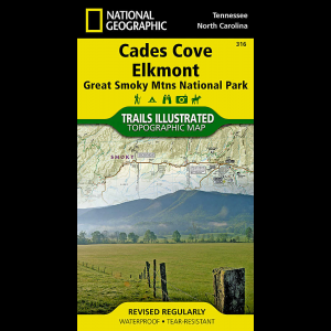 National Geographic Cades Cove/Elkmont Trail Map - Great Smoky Mountains National Park
