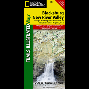 National Geographic Blacksburg, New River Valley Map
