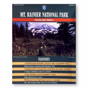 Stanley Maps Mt. Rainier National Park Map