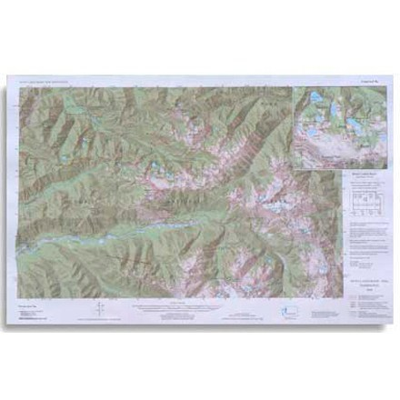 Little River Enterprises Custom Correct Seven Lakes Basin Map