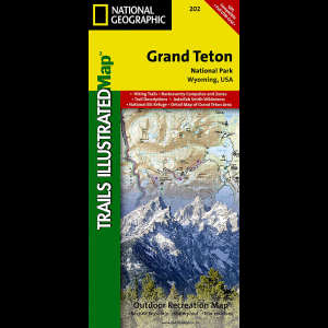 photo: National Geographic Grand Teton National Park Map us mountain states paper map