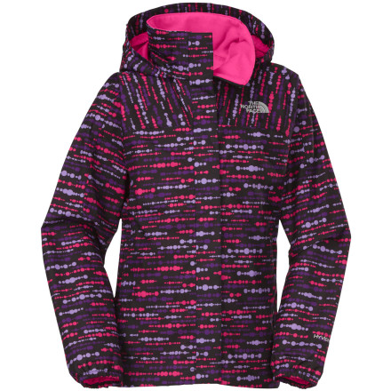 photo: The North Face Girls' Printed Resolve Jacket waterproof jacket