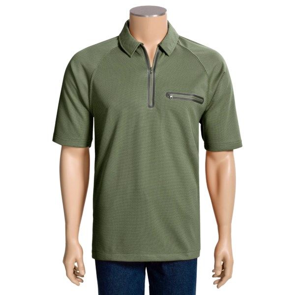 photo: Woolrich Sea Level Polo short sleeve performance top