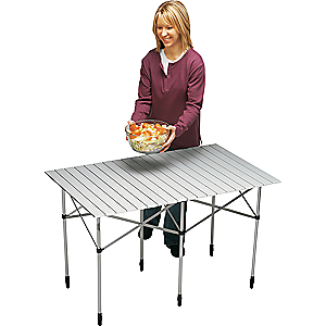 photo: Cabela's Deluxe Roll-Top Table camp table