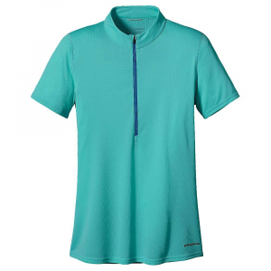 photo: Patagonia Women's Short-Sleeved Fore Runner Zip-Neck short sleeve performance top