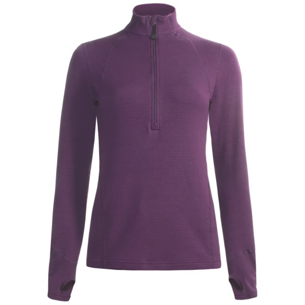 photo: Terramar Hot Totties Grid Fleece Half Zip Shirt base layer top