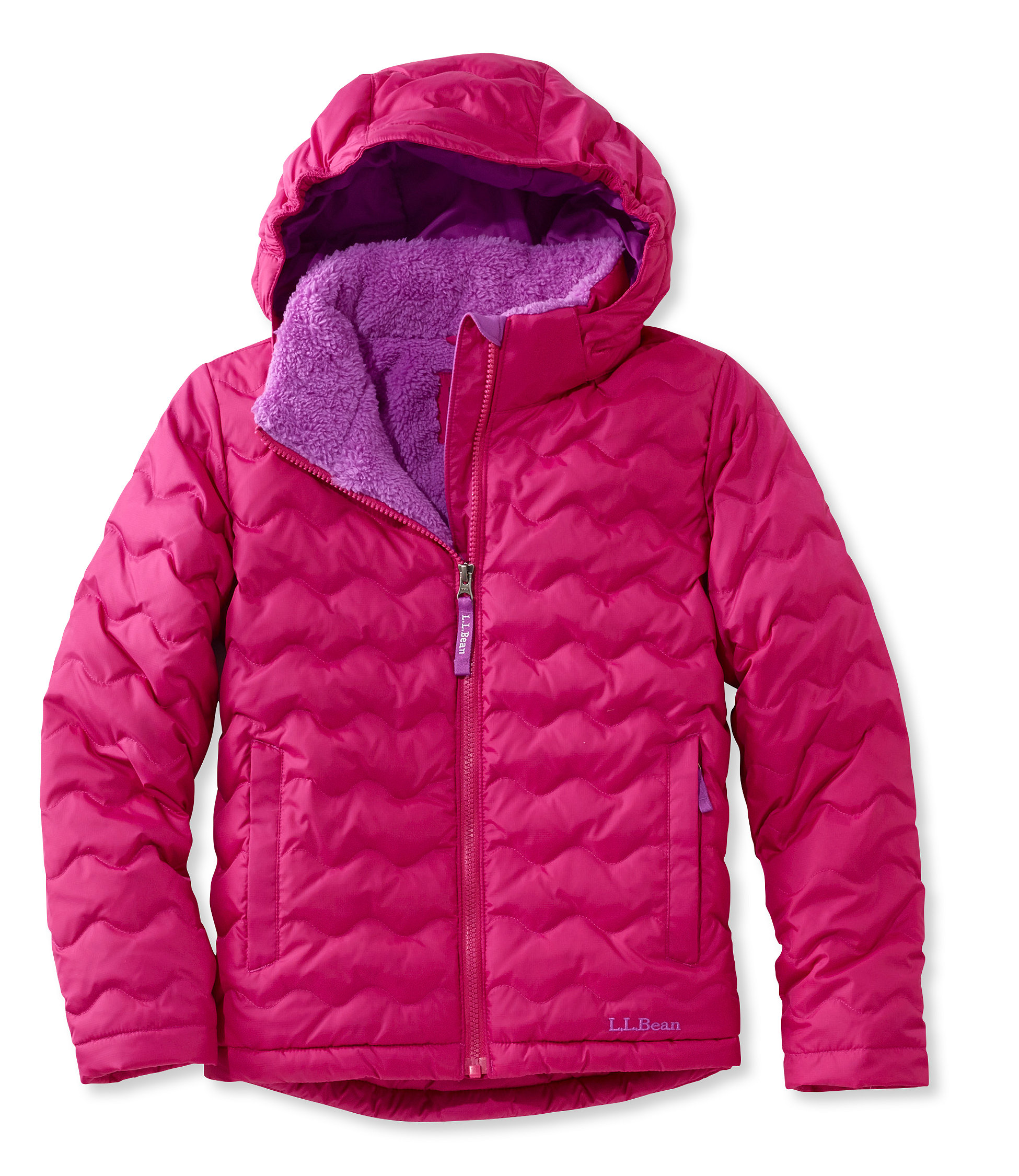 photo: L.L.Bean Girls' Fleece-Lined Down Jacket down insulated jacket