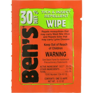 photo: Tender Ben's 30% Deet Field Wipes insect repellent