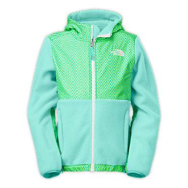 photo: The North Face Girls' Denali Hoodie fleece jacket